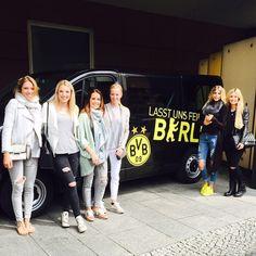 wags of Borussia Dortmund players on their way to B E R L I N ❕ Jana Kirch, Caro Stuhldreier, Tina Krüger, Simone Bender, Lisa Weidenfeller, Jenny Schmelzer