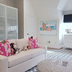 Girls Room with Sofa, Contemporary, Girl's Room