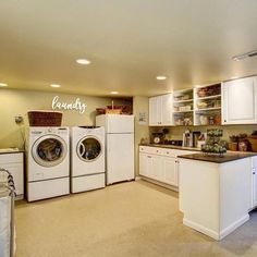 """Determine more info on """"laundry room storage diy cabinets"""". Look into our web site. Small Laundry Rooms, Laundry Room Organization, Laundry Room Design, Garage Laundry, Basement Laundry Area, Basement Kitchen, Closet Storage, Diy Storage, Storage Ideas"""