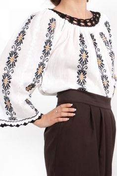 Ie romaneasca model Maria Bell Sleeves, Bell Sleeve Top, Casual Outfits, Costume, Blouse, Long Sleeve, Tops, Women, Fashion