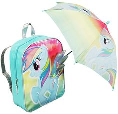 My Little Pony Backpack and Umbrella My Little Pony Backpack, Kids Umbrellas, Rainbow Brite, Little Ones, Backpacks, Bags, Handbags, Backpack, Backpacker