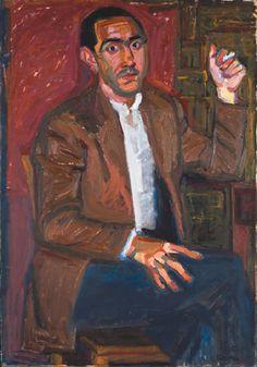 wellwornwornwell:  Panayiotis Tetsis,Portrait of Ioannis Soukaras,1954.
