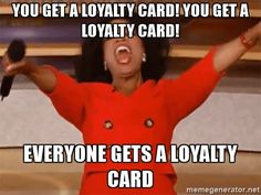 Try our new loyalty card to earn extra $$$