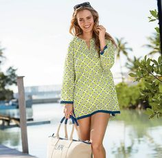Beach Tunic and weekender bag for The Company Store