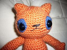 The cat I made in my Amigurumi class w Elizabeth D     Have you heard of Amigurumi.