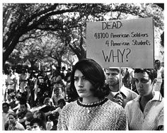 "Protesting the Vietnam War - with the exception of ""The Establishment"" EVERYone protested the Vietnam War. We all wanted our guys home. It wasn't ""just hippies"" as government propaganda would have you believe.  Even Vietnam Vets protested when they finally came back from Hell."