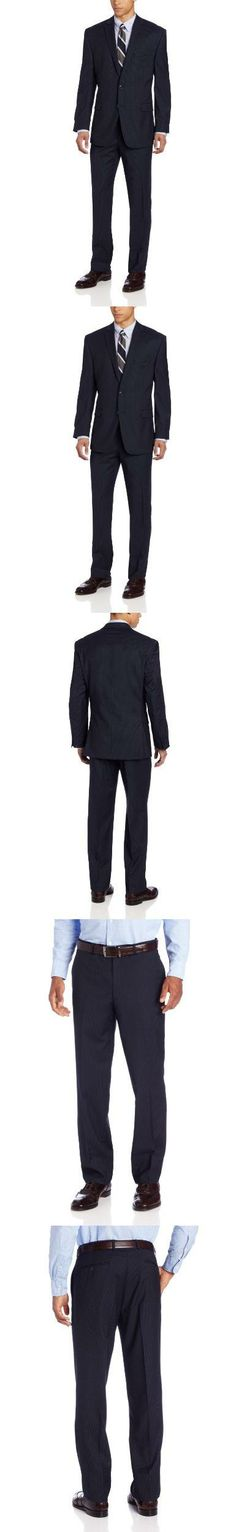 Calvin Klein Men's Navy Stripe Slim Fit Suit,50 R, Sb 2b sv, #Apparel, #Suits