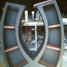 Really cool bookcase!  Symmetry, Handmade 4FT Bookcase | WoodCurveLLC - Furniture on ArtFire