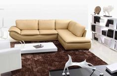 Modern Leather Sectional Sofa With Iphone Dock Vg290 Leather