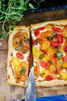 Tomato and Boursin tart