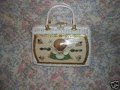Vintage Seashell Window Bag Purse