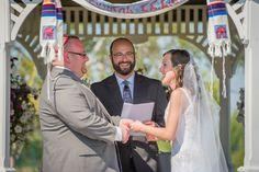 Traditional tallit chuppah found on Modern Jewish Wedding Blog // BTW Photography //