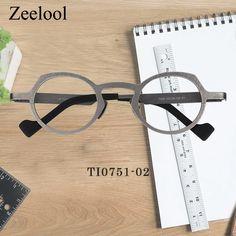 d260ad28c3e Giselle Geometric Silver Glasses TI0751-02 Titanium Glasses