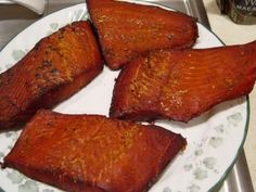 Candy-Smoked Salmon - Recipe Detail - BakeSpace.com This recipe makes a LOT of brine. I halve the recipe