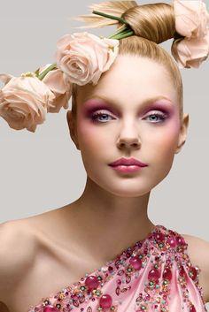 Christian Dior, Vogue.  love the pink makeup