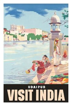 The Travel Tester vintage travel poster collection. It's time to get nostalgic with this week's retro showcase: Vintage Travel Posters India. Photo Vintage, Vintage Ads, Vintage Airline, India Poster, Udaipur India, Tourism Poster, Travel Ads, Vintage India, Visit India