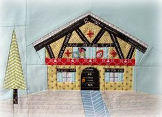 Cute Swiss chalet quilt block--this is so dang cute.