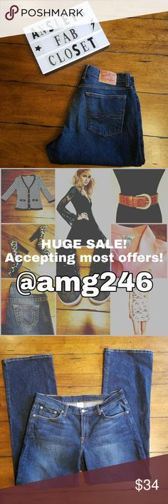 """Lucky Brand Dungaree Jeans size 14 Lucky Brand dark Wash Dungaree Jeans size 14. Inseam 32"""". Great condition. I'm a top rated Poshmark Ambassador that loves to give great deals. If you have any questions about my items don't hesitate to ask. - Ansley Lucky Brand Jeans"""