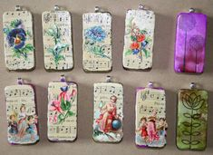 Tabitha's Trinkets: Altered Domino Pendants