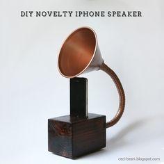 CeciBean: DIY Gramophone iPhone Speaker http://ceci-bean.blogspot.com/2013/12/diy-gramophone-iphone-speaker.html
