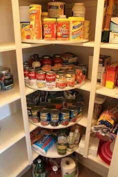 Love this idea of attaching lazy Susan in the pantry