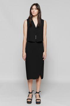 Dion Lee Line II Double Crepe Top & Double Crepe Skirt   MM6 Maison Margiela Tie Platform Sandals   MYCHAMELEON.COM.AU