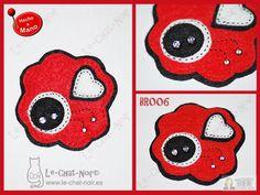 Broche flor Le-Chat-Noir. Hecho a mano. www.le-chat-noir.es