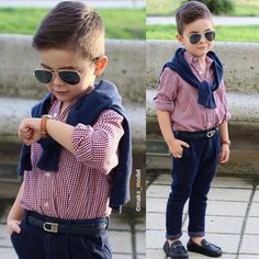 Image in outfit 👛👜👗 collection by Rayan ✿ on We Heart It Baby Boy Dress, Cute Baby Boy Outfits, Little Boy Outfits, Toddler Boy Outfits, Children Outfits, Fashion Kids, Toddler Boy Fashion, Little Boy Fashion, Toddler Boy Haircuts
