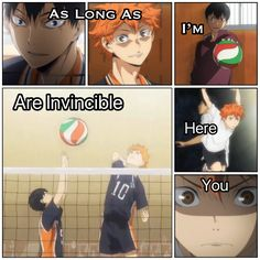 """As long as I'm here, you are invincible"". Kageyama to Hinata Haikyuu!!"