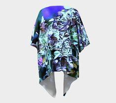 Items similar to Boho Loungewear for Women, Abstract Fall Hydrangea Bloom with Pink Highlights, Swimwear Cover up, Draped Kimono Shawl on Etsy Boho Lounge, Hydrangea Bloom, Pink Highlights, Etsy Crafts, Chiffon Fabric, Loungewear, Etsy Handmade, Casual Wear, Shawl