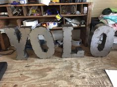 Large Lot of Tall metal sign letters, Numbers, Punct. Sign Letters, Letters And Numbers, New Sign, Metal Signs, Decorating Your Home, Signage, Retro, Projects, Rustic