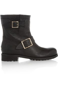 Youth leather ankle boots by: Jimmy Choo