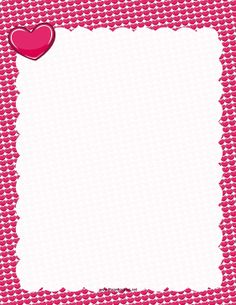 Pink hearts surround the page in this border. Free to download and print.