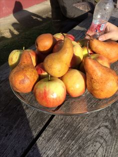 Pear, apple