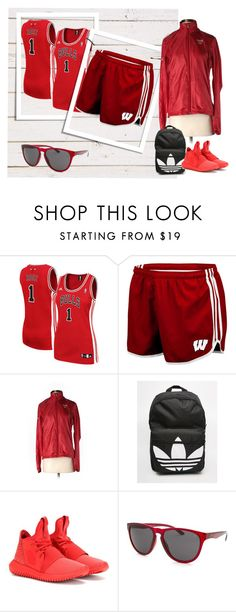 """""""Basketball"""" by carolstos on Polyvore featuring moda, adidas, women's clothing, women, female, woman, misses e juniors"""