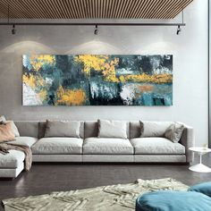 Large Abstract Painting Large Abstract Painting on Canvas image 1