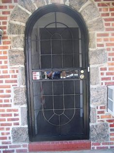 Custom Made Security Doors, With Glass And Screen Locks Powder Coat Paint  With Mail Slot.