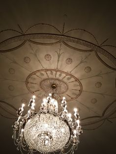 Chandelier in the Brown Hotel