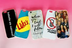 With Gilmore Girls coming back to Netflix next week with new episodes, I just had to do a DIY to celebrate. Today I've got five easy DIY Phone Cases for… View Post Girl Phone Cases, Diy Phone Case, Iphone Cases, Gilmore Gilrs, Gilmore Girls Quotes, Gilmore Girls Merchandise, Babette Ate Oatmeal, Team Logan, People's Friend