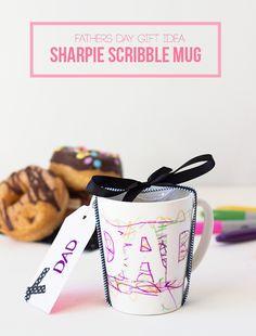 father's day scribble mug