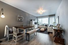 Ullanlinna Helsinki grey white interior home decor living room