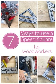 This is a great guide on how to use a speed square and all of its features for woodworking #woodworkingtips