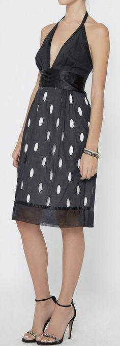Catherine Malandrino Black And Ivory Dress