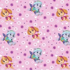 Paw Patrol Skye Everest Pink Purple Fleece Fabric By The Yard Sewing Blanket #ad