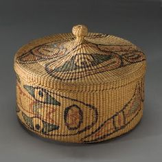 Basket weaving is one of the oldest know crafts forms of Native America, with some ancient baskets being dated as nearly 8000 years old. Different tribes had their own distinct designs and styles. The materials used for the basket weaving varied from tribe to tribe due to different geographical locations.