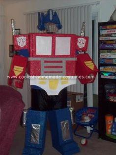 Coolest Homemade Optimus Prime Halloween Costume. Transformer CostumeUnique CostumesCostume ... & Coolest Homemade Optimus Prime Halloween Costume Idea | Pinterest ...