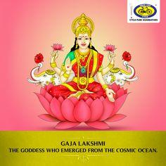 Gaja Lakshmi, the fourth form of Goddess Lakshmi, is worshipped for prosperity and royalty. Fest Wishes, Maa Wallpaper, Sankranthi Muggulu, Lakshmi Images, Latest Wallpapers, Shiva Shakti, Goddess Lakshmi, God Pictures, Lord Ganesha