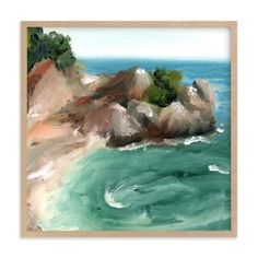 """""""Big Sur"""" - Art Print by Lindsay Megahed in beautiful frame options and a…"""
