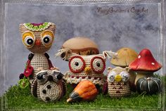 Amigurumi owls - Tutorial by magic with hook and needles, Craft passion and Амигуруми. Вязаные игрушки Crocheted by FairyGurumi's Crochet