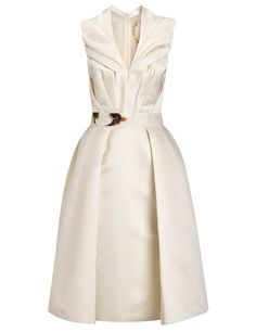 Cream Satin Burnt Tapesty Dress | Giles |